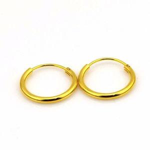 "Jewelry - 24K Yellow Gold Filled Hoop Earrings 20mm or .78"""